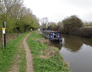 Narrow boat in the canal near Witney